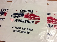 Нанесение логотипа на ПВД пакеты